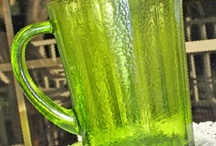 LIME GREEN GLASS