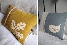 Pillows stamp & embroided
