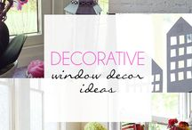 Decorative Window Decor Ideas / This board is not in our 'Pin It To Win It' Competition. It has been created for inspiration only.