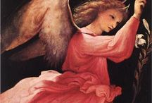 Archangels Michael,[מִיכָאֵל, Μιχαήλ],  Raphael [ רָפָאֵל ,Ραφαήλ ]and Gabriel