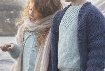 Knitwear/birds shoot / Nordic style knitwear, soft tones.