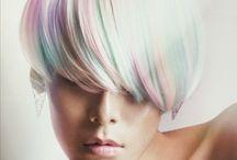 Rainbow pixie cuts