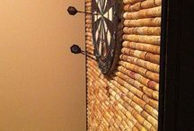 Cork craft ideas / Cork wall behind darts