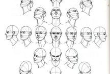 Dibujos de rostros hombre