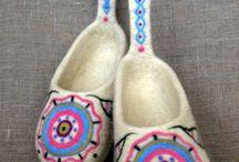 валяные тапочки / валяные тапочки из натуральной шерсти