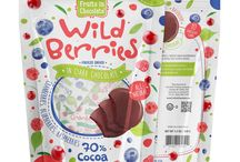Dark Chocolate Wild Berries, 3.5 Oz Bag / 70% Cocoa Dark Chocolate Freeze-Dried Wild Berries, Individually Wrapped in a 3.5 oz Bag.  In this Wild Berries collection our fine 70% cocoa dark chocolate meets crunchy bits of delicious freeze-dried berries.