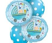 """Baby: Noah""""s Ark Party Supplies / A range of Noah's Ark tableware includes coloured napkins, plates, tablecover, cups, Balloons, disposable cutlery and Platters. Add this Noah's Ark partyware to any coloured party supplies and create the perfect themed party for a Baby Shower, Baby Arrival, Naming Day or Christening"""