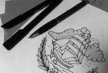 FraiXinus / Sketches, tattoos