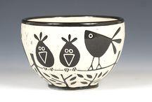 Pottery: birds