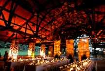 Mohonk Mountain House Pavilion / Hard to believe this is really a skating rink transformed into a warm inviting space. Lighting by HourglassLighting.com