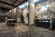 Cersaie 2016 / Inkiostro Bianco presenting the Wallcovering Collection 2016/17 and the new collection of engraved parquet at Cersaie 2106