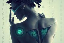 Robot art costume