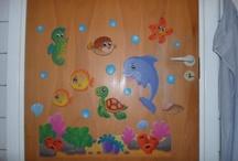 Decorated doors / Doors that I decorated.