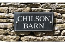 Welsh Slate House Signs with Enamel Paint / House plaques, with deeply engraved lettering, hand painted with coloured enamel paint for a beautiful contrast with the natural material. Visit www.stonesign.com or Email info@stonesign.com to create your own bespoke sign.