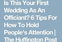 Advice for celebrants