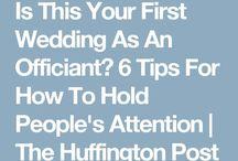 Advice for celebrants