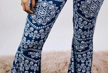 Bohemian Inspired Fashion Sexy, soft, blue boho flares online and in store!