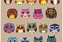 owls / by Melissa K Kissner