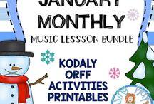 Elementary Winter Music Class Lessons, Songs, Games, and Ideas / Music class lessons, songs, games and ideas activities that have a Winter Theme.