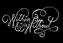 Calligraphy and fonts