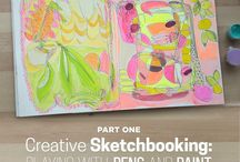 #CBSketchbooking / my Creative Sketchbooking class at Creativebug! Hope you'll join me there and share your work in the class gallery or hashtag #CBSketchbooking on other social media so I can find student work and pin it here!!