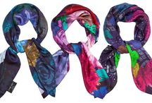 AW14 Scarves / 'Winter Garden' new collection of Silk Scarves