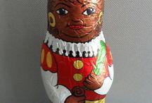 Chocoladefiguren Sinterklaas en Zwarte Piet