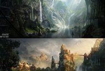 Concept art environment for films