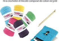 Hoooked Ribbon XL DMC / Fil à crocheter et tricoter ! Hooked Ribbon XL ! Fil 100% recyclé ! Idéal pour vêtements et accessoires de déco ! 14 coloris ! Dans la même gamme : les aiguilles à tricoter et le livre.