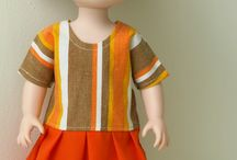 """Disney Animators & Disney Toddler Dolls Clothes & Patterns / Clothes for Disney Dolls made using patterns from www.ik-patterns.com with links to patterns. Includes 16"""" Disney Animators and 13"""" Disney Toddler dolls."""