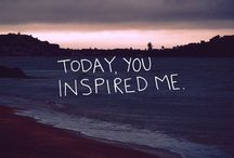 Inspirational quotes / Quotes that are inspiring with photography. / by Lauren Cydni