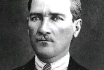 Kemal Ataturk, My Idol / A gorgeous person that give inspiration to my thoughts. Founder of Republic of Turkey, leader of Turkey who freed the country from being controlled by other countries, and later for starting changes that made Turkey more modern and similar to Western civilization, mainly Europe and the United States.