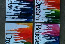 smeltede crayons