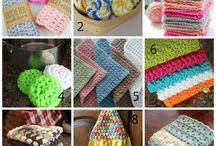 Crochet washcloth, tawashi
