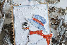 Sneeuwpop kaarten