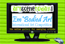 """Winner's in ArtSceneToday's """"Em*Bodied Art"""" Competition / Em*Bodied Art...art that uses the human body. An exploration of how figurative art has evolved, using the body as a canvas, as a focal point, as inspiration. We look for the best and most daring work, unique and innovative explorations of the use of the body in all manifestations.  ArtSceneToday juried competitions recognize excellence in the visual arts among emerging artists from around the world."""