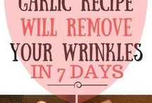 Garlic away wrinkels