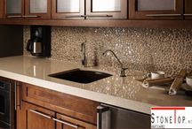 Quartz Kitchen Countertops / Do you know that quartz countertop surfaces are fast picking up trend in the countertop market?  Most people would blindly settle for granite or marble as most of their neighbours suggest it.