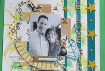 my scrapbooking layout / layout pages I did.
