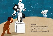 Poster for Astronomical Observatory in Peru. / Poster for Club de Astronomía Observatorio de Huancayo Peru, astronomy club poster in National Astronomical Observatory of Huancayo Peru. I visited there this spring. It was really cool place. fun work!