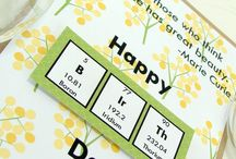 Nerdy Birthday Cards / Celebrate the birth of your favorite nerd with these lovely chemistry inspired cards!