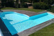 Piscines Aquilus - Formes insolites / Des formes arrondies, des escaliers atypiques... Aquilus Piscines pousse son originalité!  www.aquilus-piscines.com