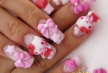 Hello kitty nails / by Kitty White
