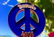 Bernie 2016! / At From War to Peace we are proud to introduce the Bernie 2016! Peace Symbol. Just as Senator Sanders' policies promise to transform our America into a compassionate and loving nation, the Bernie 2016! Peace Symbol represents the transformation of weapons of war into a true celebration of peace and progress. Cast from Peace Bronze, these medallions are formerly weapons of mass destruction, now rededicated to creating a more peaceful world.   GO BERNIE!