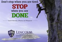 DO ONE THING EVERY DAY THAT SCARES YOU. Visit our site https://www.lincoln-edu.ae