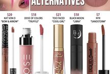 dupes, dupes and dupes / bc not everyone *or just me* can spend 86953$ on a lipstick or eyeshadow...whatsoever