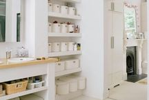 Bathroom Storage Ideas / Desperate to find places for all my things I began a search to find quirky ways to hide/display all the things I need in my bathroom.