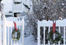 Juldekorationer utsida
