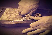 Σχέδια Εικόνων / Ξύλινες εκκλησιαστικές εικόνες σκαλισμένες στο χέρι και επεξεργασμένες σε καμβά.