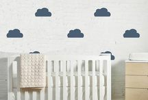 Cloud Nursery Ideas / There's something so lovely and calming to see clouds in a nursery! From walls to pillows and everything in between, here are our favorite clouds in the nursery.